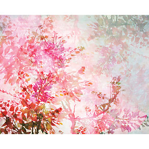 ohpopsi Pink Blossom Wall Mural