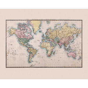 ohpopsi Historic World Map Wall Mural