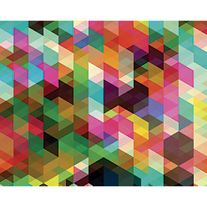 ohpopsi Colourful Geometric Mosaic Wall Mural