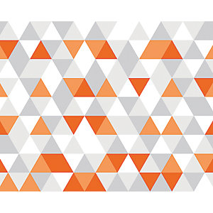 ohpopsi Bright Orange Geometric Wall Mural