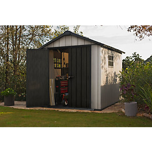 Keter Oakland 7 x 11ft Double Door Outdoor Apex Plastic Garden Shed