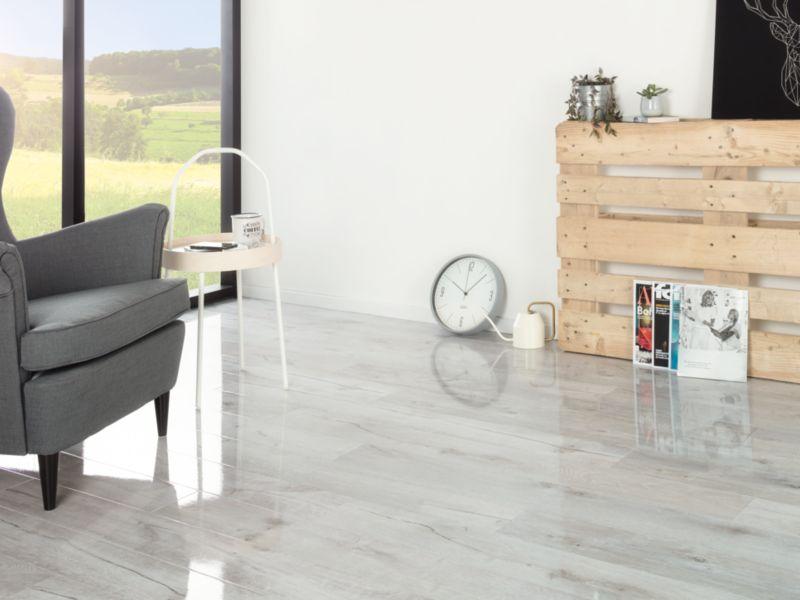 Chenai Light Grey High Gloss Laminate Flooring