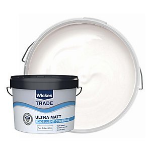 Wickes Trade Ultra Matt Emulsion Pure Brilliant White 10l