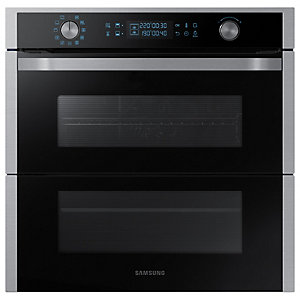 Samsung NV75N7677RS/EU Built-In Dual Cook Flex Pyrolytic Single Oven - Black/Stainless Steel