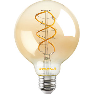 Sylvania LED Dimmable Golden Filament G95 E27 Light Bulb - 5.5W
