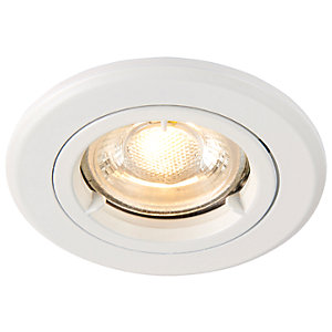 Saxby GU10 Fire Rated Cast Fixed Downlight - Matt White