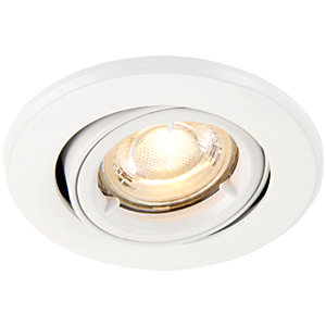 Saxby GU10 Fire Rated Cast Adjustable Downlight - Matt White