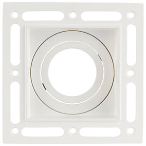 Saxby GU10 Trimless Plaster In Square Downlight 7W - White