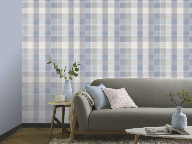 Striped & Checks Wallpaper