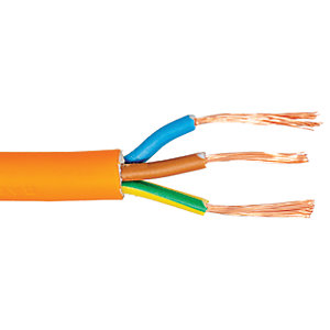 3 Core Round Flexible Cable 0.75mm 3183Y Orange 25m