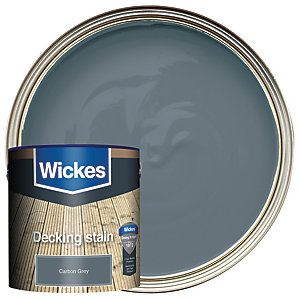 Wickes Decking Stain Carbon Grey 2.5L