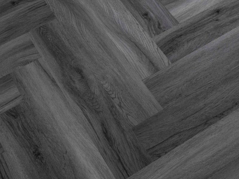 Herringbone Slate Grey Luxury Vinyl Flooring