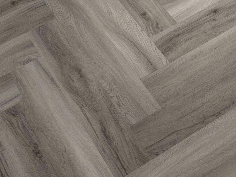 Herringbone Warm Grey Luxury Vinyl Flooring