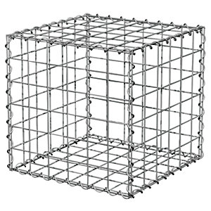 Image of Gabion Cage Wire Basket 300 x 300 x 300mm
