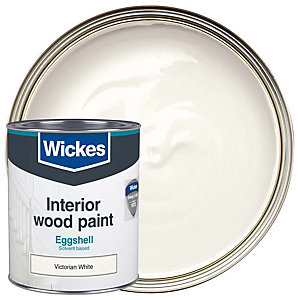 Wickes Eggshell Victorian White 750ml