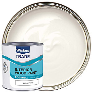 Wickes Trade Eggshell Victorian White 1l