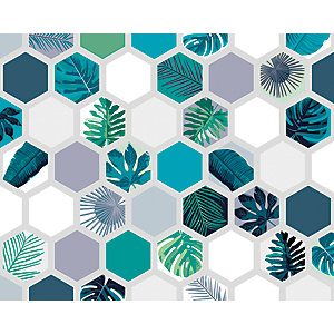 ohpopsi Botanical Hexagonal Prisms Wall Mural