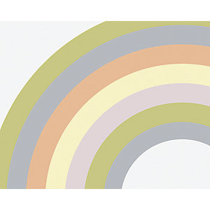 ohpopsi Pastel Rainbow Wall Mural