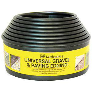Gravel & Paving Edging Black 5.5m