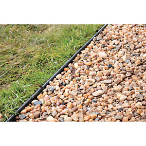 Gravel & Paving Edging Black 10m