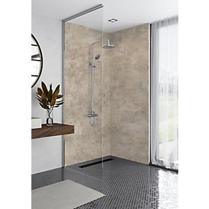 Mermaid Elite Treviso Post Form Single Shower Panel 2420 x 1200mm