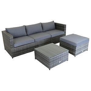 Charles Bentley Corner Sofa Garden Lounge Set - Grey