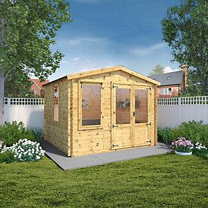 Image of Mercia 3.3 x 3m 19mm Log Thickness Log Cabin