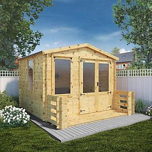 Image of Mercia 3.3 x 3.7m 19mm Log Thickness Log Cabin