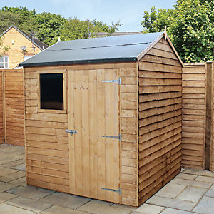 Mercia 6 x 6ft Overlap Reverse Apex Shed