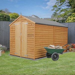 Mercia 10 x 6 ft Overlap Apex Windowless Shed