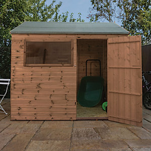Mercia 8 x 6 ft Pressure Treated Shiplap Reverse Apex Shed