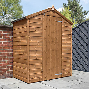 Mercia 3x5ft Pressure Treated Shiplap Apex Windowless Shed