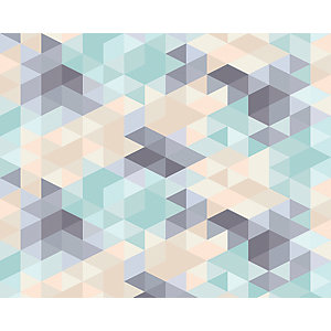 ohpopsi Pastel Triangles Wall Mural