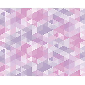ohpopsi Pink Pastel Triangles Wall Mural
