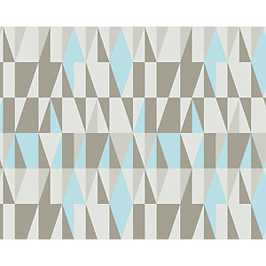 ohpopsi Blue/Grey Scandi Nordic Geometric Wall Mural