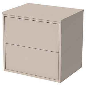 Wickes Tallinn Cashmere 'Push To Open' Wall Hung Vanity Unit - 600mm
