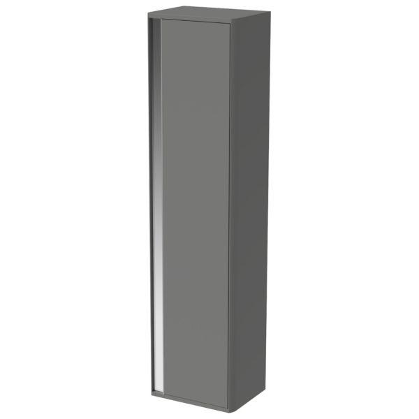 Wickes Radli Dust Grey Handleless Rail Wall Hung Tower Unit - 1600 x 400mm