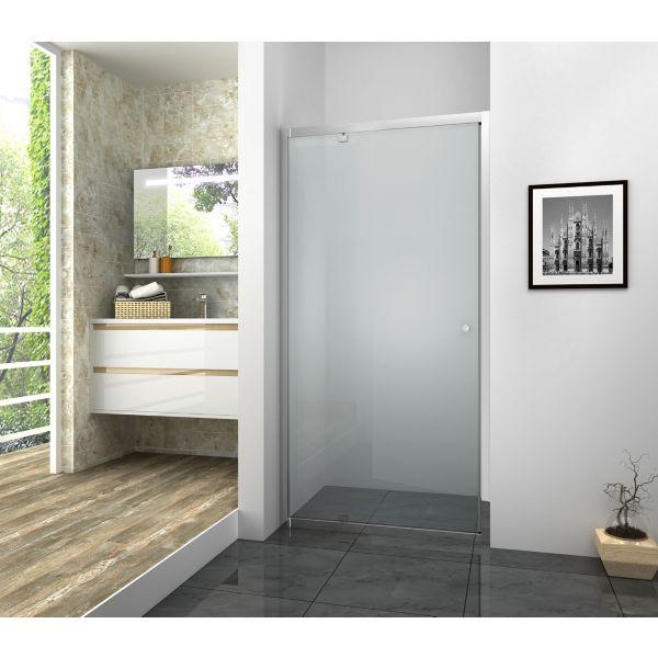 Vision 6mm Chrome Framed Pivot Shower Door Only - 1850 x 800mm