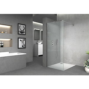Vision 6mm Frameless Wet Room Shower Glass Panel - 1850 x 900mm