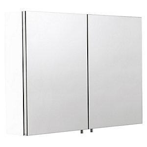 Wickes Dawley Folded White Steel Double Bathroom Cabinet - 670 x 800mm