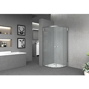 Vision 6mm Chrome Offset Quadrant Framed Shower Enclosure - 1850 x 800mm