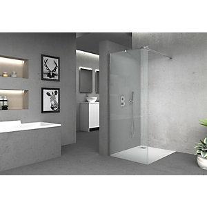Vision 6mm Frameless Wet Room Shower Glass Panel - 1850 x 300mm