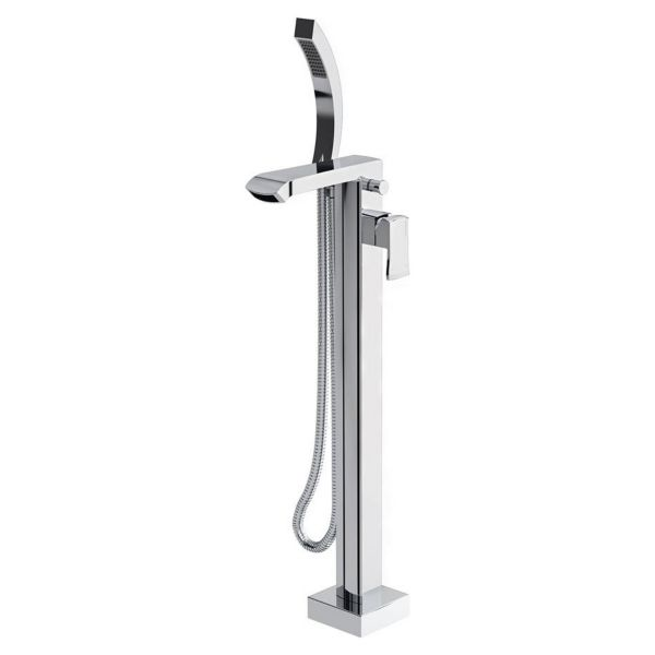 Bristan Descent Floor Standing Bath Shower Mixer Tap - Chrome
