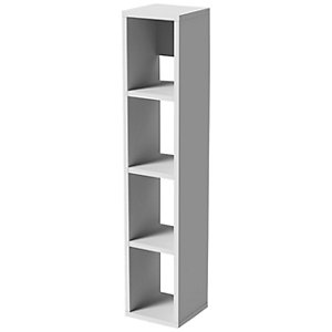 Wickes Cuba Alpine White Wall Hung Open Tower Unit Only - 1500 x 300mm