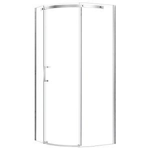 Nexa By Merlyn 8mm Chrome Frameless Left Hand Quadrant Shower Enclosure Single Sliding Door Only - 900 x 900mm