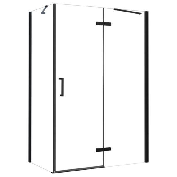 Nexa By Merlyn 8mm Black Frameless Inline Hinge Door Only for Side Panel - 2000 x 1000mm