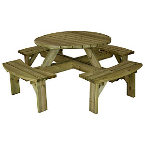 Charles Bentley FSC Timber Supported Round Picnic Table