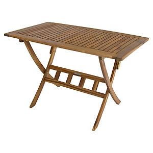 Charles Bentley FSC Acacia Wooden Rectangular Garden Dining Table