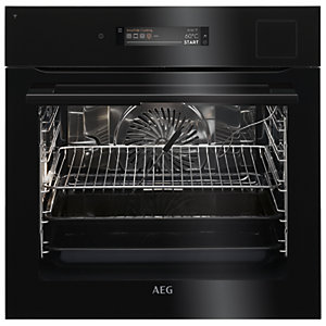 AEG Connected Steampro Single Oven BSK798380B