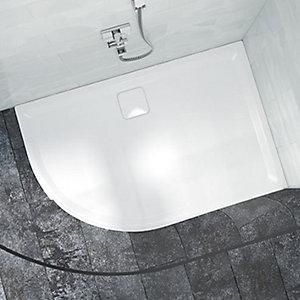 Nexa By Merlyn 25mm Offset Quadrant Low Level Left Hand White Shower Tray - 1200 x 900mm